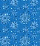 Безшовная картина снежинки вектора Улучшите для печатать на ткани или заверните в бумагу Стоковое Фото