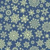 Безшовная картина снежинки рождества 10 eps Стоковое фото RF