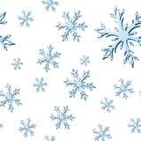 Безшовная картина снежинки стоковые фотографии rf