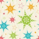 Безшовная картина снежинки иллюстрация штока