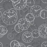 Безшовная картина составленная часов изображений Стоковая Фотография