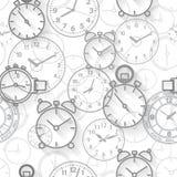Безшовная картина составленная часов изображений Стоковые Фото