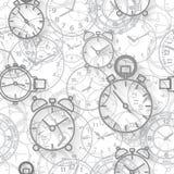 Безшовная картина составленная часов изображений Стоковое Изображение RF