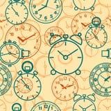 Безшовная картина составленная часов изображений Стоковое Фото