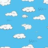 Безшовная картина состоя из облаков Стоковое Изображение RF