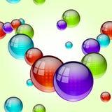 Безшовная картина стеклянного шарика Стоковое Изображение