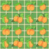 Безшовная картина с абрикосами Стоковое Фото