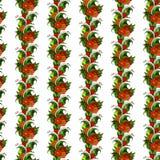 Безшовная картина с абстрактными ветвями с цветками вектор Стоковые Фото