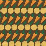 Безшовная картина с абстрактными овощами Иллюстрация от моркови и лука иллюстрация штока