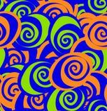 Безшовная картина с абстрактными пестрыми цветками. Стоковые Изображения