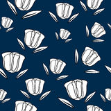 Безшовная картина с абстрактными тюльпанами Стоковое Фото