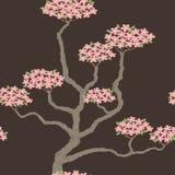 Безшовная картина с абстрактным деревом Стоковые Изображения RF