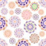 Безшовная картина с абстрактным кругом цвета Стоковые Фотографии RF