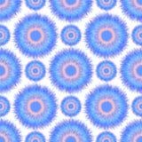 Безшовная картина с абстрактным меховым кругом Стоковая Фотография