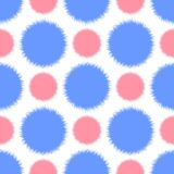 Безшовная картина с абстрактным меховым кругом Стоковые Изображения RF
