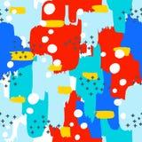 Безшовная картина с абстрактным орнаментом brushstrokes Стоковая Фотография