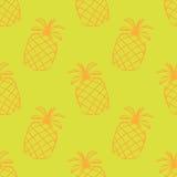 Безшовная картина с ананасом Стоковые Изображения