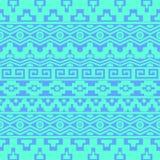 Безшовная картина с ацтекскими орнаментами Стоковое Изображение