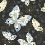 Безшовная картина с бабочками Стоковые Изображения RF