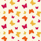 Безшовная картина с бабочками. Стоковое Фото