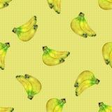 Безшовная картина с бананами Стоковое Изображение RF