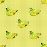 Безшовная картина с бананами Стоковое фото RF