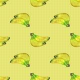 Безшовная картина с бананами Стоковые Изображения