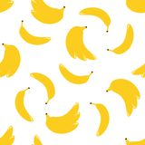 Безшовная картина с бананом бесплатная иллюстрация