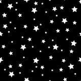 Безшовная картина с белыми звездами r иллюстрация штока