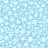 Безшовная картина с белыми снежинками Стоковые Изображения RF