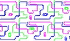 Безшовная картина с бесцветными линиями Стоковая Фотография RF