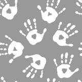 Безшовная картина с белыми handprints бесплатная иллюстрация