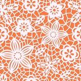 Безшовная картина с бумажными цветками Бесплатная Иллюстрация
