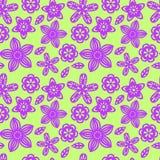 Безшовная картина с бумажными цветками Стоковое фото RF
