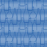 Безшовная картина с бутылками Стоковые Изображения