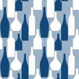 Безшовная картина с бутылками Стоковое Изображение RF