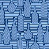 Безшовная картина с бутылками Стоковая Фотография