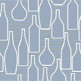 Безшовная картина с бутылками Стоковые Фото