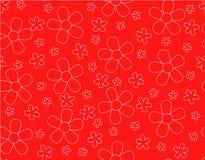 Безшовная картина с вектором плана цветка Иллюстрация штока