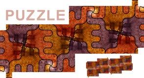 Безшовная картина с верблюдами - головоломка Стоковое Изображение RF