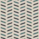Безшовная картина с вертикальным орнаментом оплетки Предпосылка плитки восьмиугольников Шевронный мотив геометрические обои иллюстрация штока