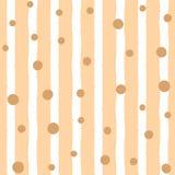 Безшовная картина с вертикальными нашивками и случайно разбрасываемыми точками Нарисовано вручную иллюстрация штока