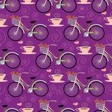 Безшовная картина с велосипедом Стоковые Фото