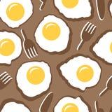 Безшовная картина с взбитыми яйцами Стоковое Фото