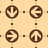 Безшовная картина с винтажными стрелками Стоковые Фотографии RF