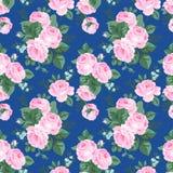 Безшовная картина с винтажными цветками. иллюстрация вектора