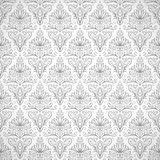 Безшовная картина с винтажными цветками Стоковые Фото