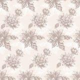 Безшовная картина с винтажными цветками Стоковые Изображения
