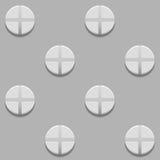 Безшовная картина с винтами на серой предпосылке Стоковая Фотография RF