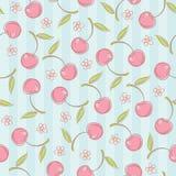 Безшовная картина с вишнями иллюстрация штока